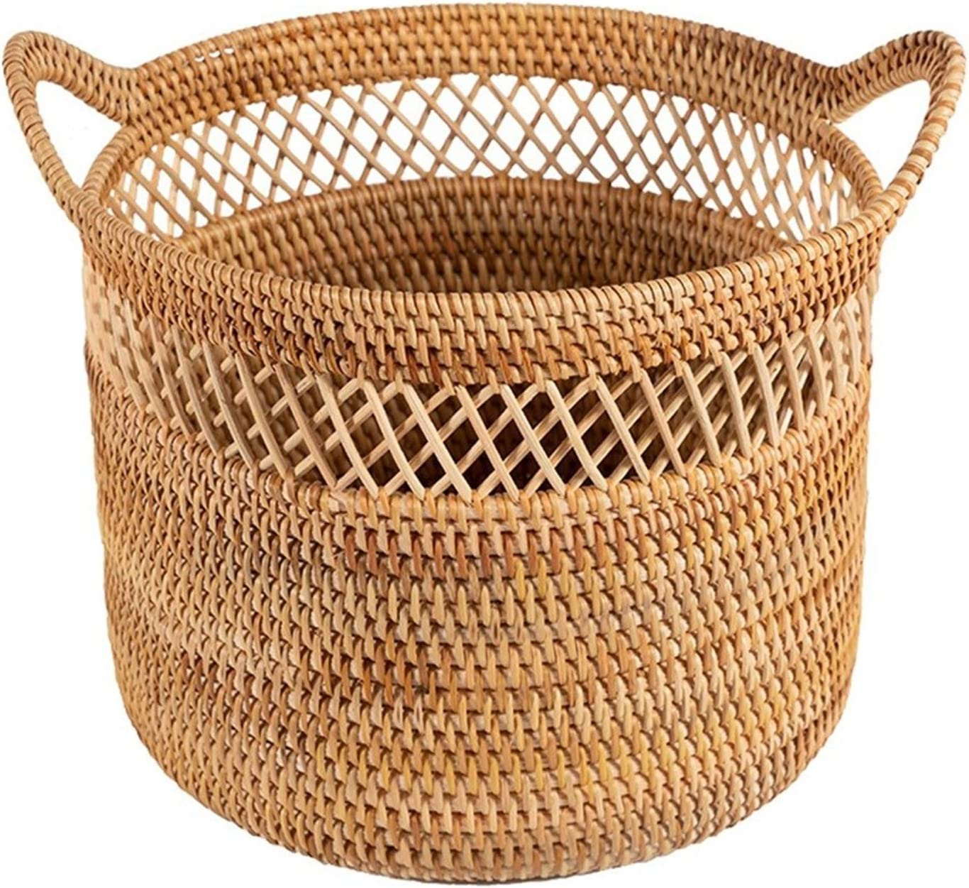 the teapot company Handmade Rattan Basket Max 54% OFF Clothes Storage Dirty Cheap mail order shopping