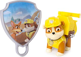 Paw Patrol - Action Pack Rubble with Extendable Hook & Collectible Pup Badge