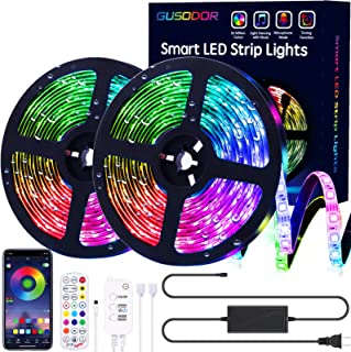 Gusodor Led Strip Lights 32.8 Feet Outdoor Led Lights Waterproof 300 LEDs Flexible Led Light Strips Color Changing Music S...