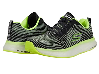 SKECHERS Go Run Forza 4 (Black/Lime) Men