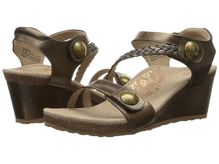 Aetrex  Naya Wedge Sandal (Bronze) Womens Wedge Shoes