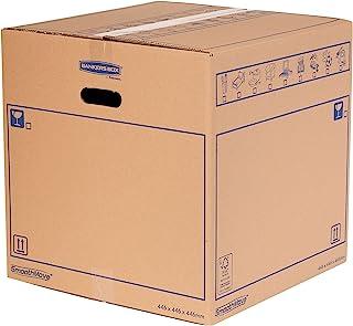 SmoothMove Caisses de Déménagement en Carton Double Epaisseur avec Poignées - 89 Litres, très résistants, jusqu'à 4 carton...