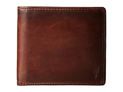 Frye Logan Billfold (Cognac Antique) Wallet Handbags