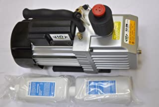 Vpd12a:2-Stage High Performance Rotary Vane Deep Vacuum Pump 11.5 CFM 12 Micron Recommended for Vaccum Bagging Epoxy Resin Infusion Infiltration Workshop Setups Refrigeration HVAC Evacuation