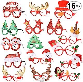 CestMall 13pcs Christmas Glitter Party Glasses Christmas Novedad Glasses Christmas Decoration Party para Adultos Juguetes para ni/ños