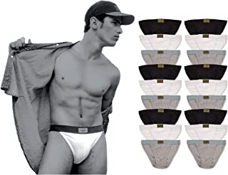 Andrew Scott Mens 18 Pack Hot Tanga Athletic Sport Bikini Underwear