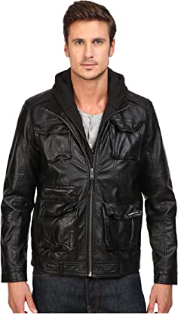 L-Train Washed PU Jacket