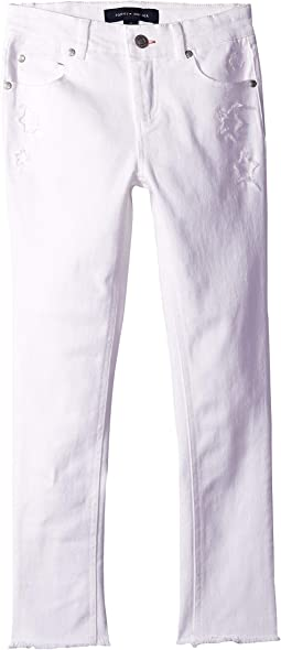 Star Cut Out Skinny Jeans in White (Little Kids/Big Kids)