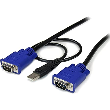 Startech.Com Cavo Sottile Kvm, Vga, USB, 2 in 1, 3 M