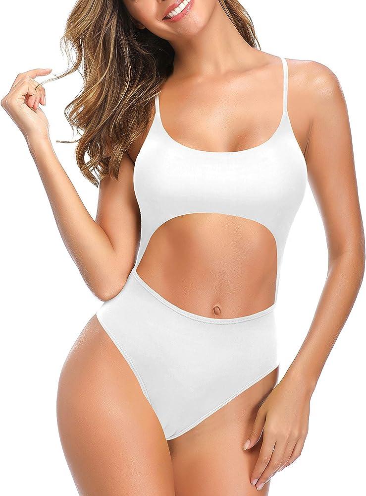 Shekini halter costume intero per donna, 82% poliammide, 18% elastan 1186B
