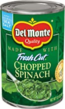 Del Monte Canned Fresh Cut Chopped Spinach, 13.5-Ounce Cans (Pack of 12)
