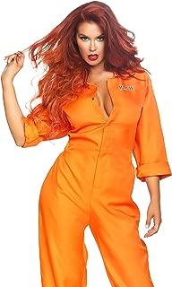 Prison Jumpsuit Costume, Multi/Orange, O/S