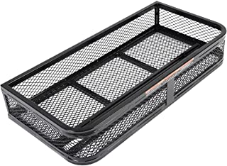 Goplus Universal ATV Front Cargo Basket Rack Luggage Carrier Steel Mesh Surface