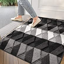 "Indoor Doormat Front Back Door Mat, 32""x48"" Water Absorbent Low-Profile Mud Mat Non Slip Large Door Rug for Inside Entranc..."