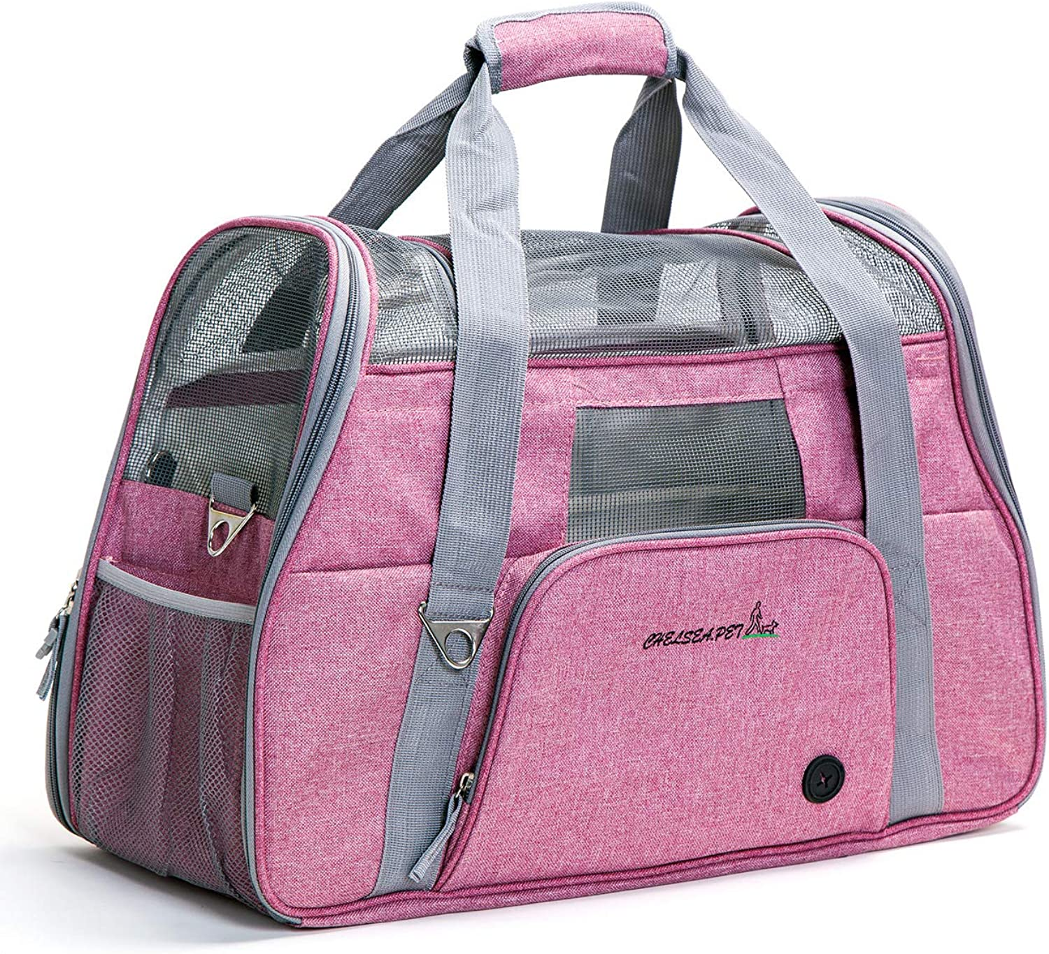 Pet Carrier Soft  Dog & Cat Small Carrier, Foldable Pet Travel Carrier 51  22  34cm (pink Pink)