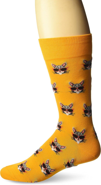 Bicycle Sweatshirt Grey Heather Hot Sox Mens Conversational Slack Crew Socks Shoe Size: 6-12