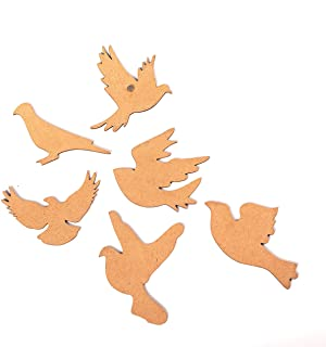 IVEI DIY MDF Bird Magnets - Set of 6-Shaped MDF Fridge Magnet Blanks Cutouts - for Painting Wooden Sheet Craft, Decoupage,...