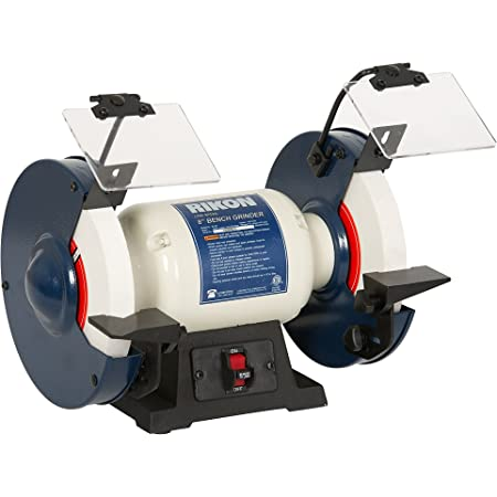 "Cypress Shop Bench Grinder 8/"" 1//2 HP Motor Arbor Speed 3450 RPM Heavy Cast Wheel Covers with Tool Rests Shields Work Sharpener Polisher Spark Guard Workshop Hand Power Tools"