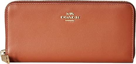 COACH Womens Smooth Leather Slim Accordion Zip