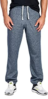 ProGo Men's Closed Bottom Casual Regular Fit Fleece Sweatpants with Elastic Waist
