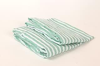 Bacati Ikat Mint Stripes 2 Pc Muslin Crib Sheets
