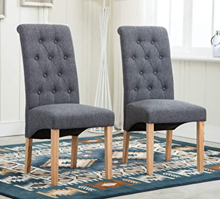 Amazon Co Uk Fabric Dining Chairs Dining Room Furniture Home