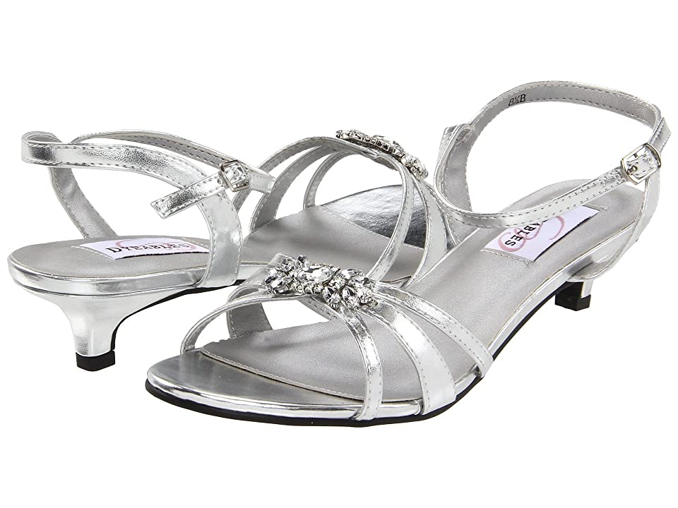 Touch Ups Penelope by Dyeables (Silver Metallic) High Heels