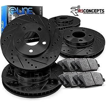 Complete Kit Black Drill/Slot Brake Rotors Kit & Ceramic Brake Pads CBC.44173.02