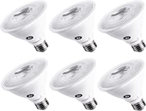 Hyperikon LED PAR30 Bulb, Short Neck 65 Watt Replacement (10W), Dimmable Flood Light, E26 Base, 4000K, E26, CRI90, UL, Energy Star, 6 Pack
