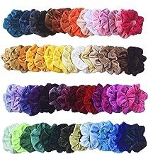 Mcupper 54Pcs Hair Scrunchies Velvet Elastic Hair Bands Scrunchy Hair Ties Ropes Scrunchie for Women Girls Hair Accessorie...