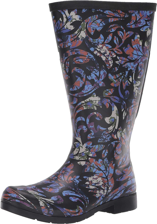 Chooka Cheap Women's Waterproof Flex Fit Boot Elastic Max 67% OFF Rain with Tall