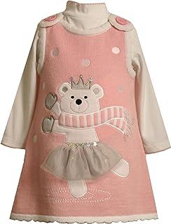 Bonnie Jean Little Girls' Skating Bear Sweater Jumper Set