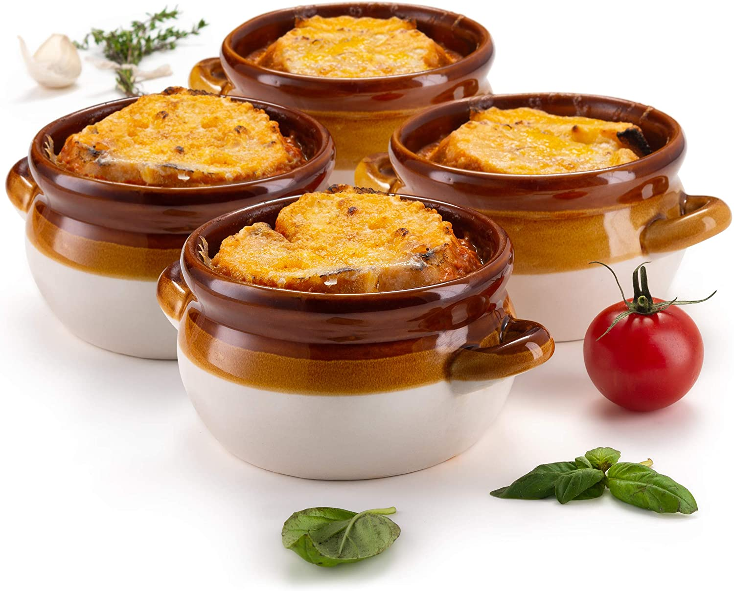 French Onion Soup Crocks by Ceramic Handles Make Large Ranking TOP17 KooK Challenge the lowest price