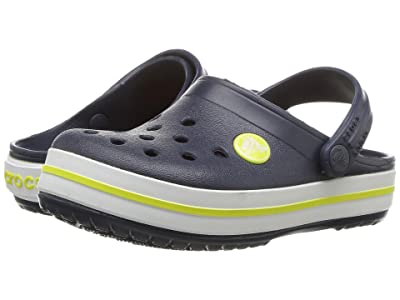 Crocs Kids Crocband Clog (Toddler/Little Kid) (Navy/Citrus) Kids Shoes