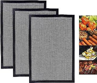 ZILONG Tapis Grille Barbecue Réutilisable, Tapis de Cuisson Anti-adhésif pour Barbecue ou Yaourtières, Compatible Fonction...