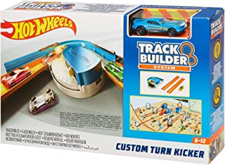 Hot Wheels Track Builder Custom Curve Kicker Playset Custom Curve Kicker Brown/a