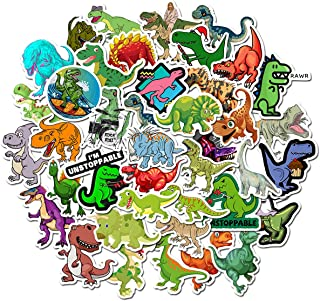 Best Dinosaur Stickers for Water Bottles,   50-Pack   Cute,Waterproof,Aesthetic,Trendy Stickers for Teens,Girls,Perfect for Laptop,Hydro Flask,Phone,Skateboard,Travel  Extra Durable Vinyl (Dinosaur-50PCS) Review