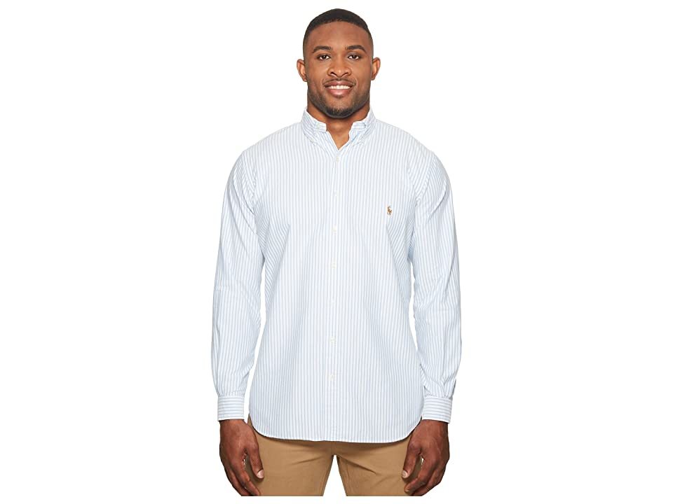 Polo Ralph Lauren Big Tall Oxford Long Sleeve Sport Shirt (Basic Blue/White) Men
