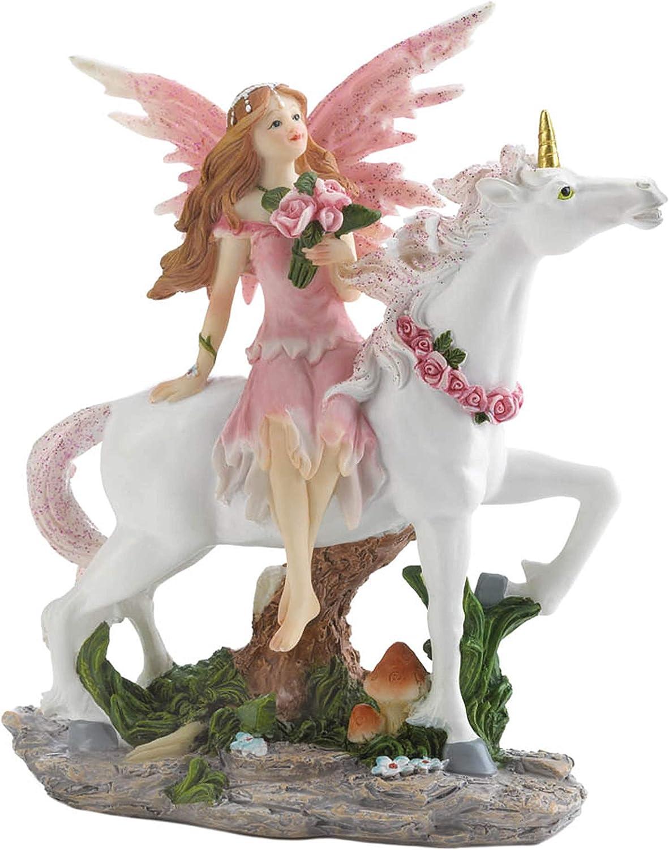 低廉 Dragon Crest Magical 限定タイムセール Pink Fairy Unicorn Figurine with 5x2.25x6.5