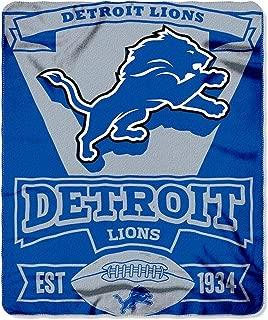 BSI Detroit Lions Marquee Established Design Lightweight 50x60 Fleece Throw Blanket Football