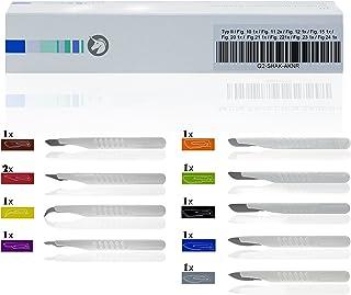 Horn Medical - Conjunto de bisturí desechable Type II, todos los tamaños estándar, estériles, 10 escalpelos para medicina y pasatiempo