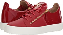 May London Nappa/Patent Low Top Sneaker