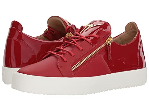 Giuseppe Zanotti May London Nappa/Patent Low Top Sneaker