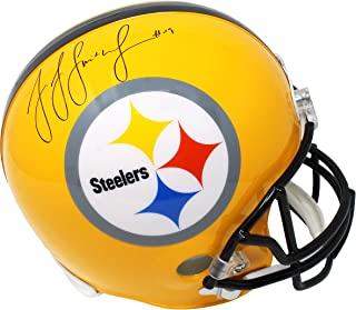 JuJu Smith Schuster Signed Pittsburgh Steelers Gold 75th Anniversary Riddell Full Size Replica Helmet