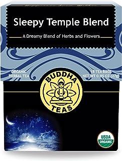 Organic Sleepy Temple Blend, 18 Bleach-Free Tea Bags – Organic Caffeine-Free Tea is a Great Source of Vitamins, Minerals, ...