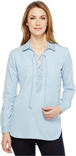 Makeyla Lace-Up Shirt