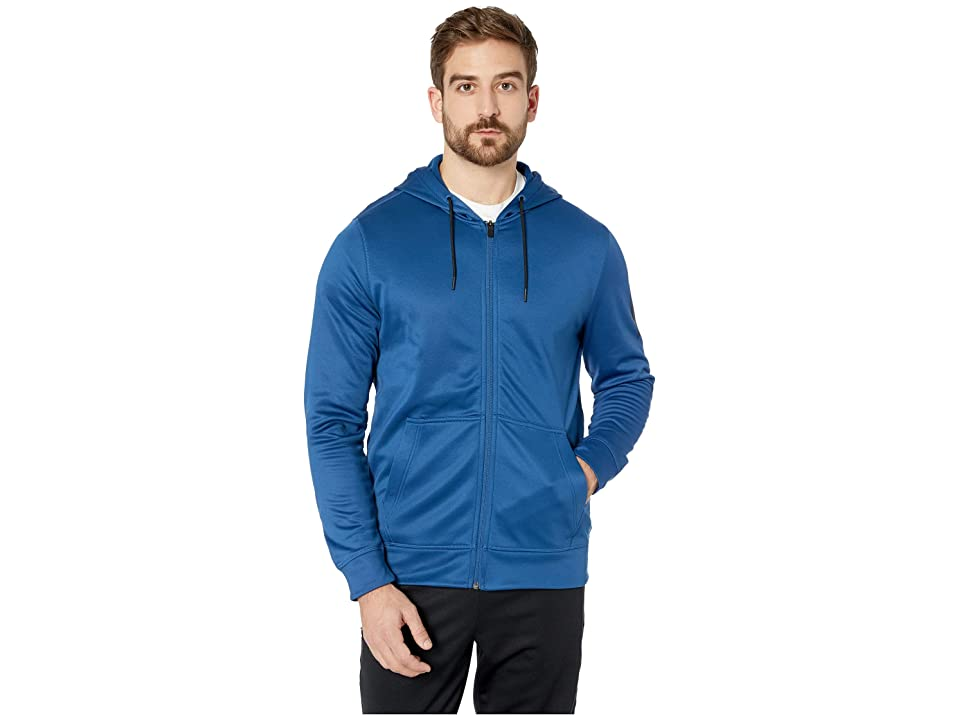 Reebok Workout Ready Poly Fleece Full Zip Hoodie (Bunker Blue) Men