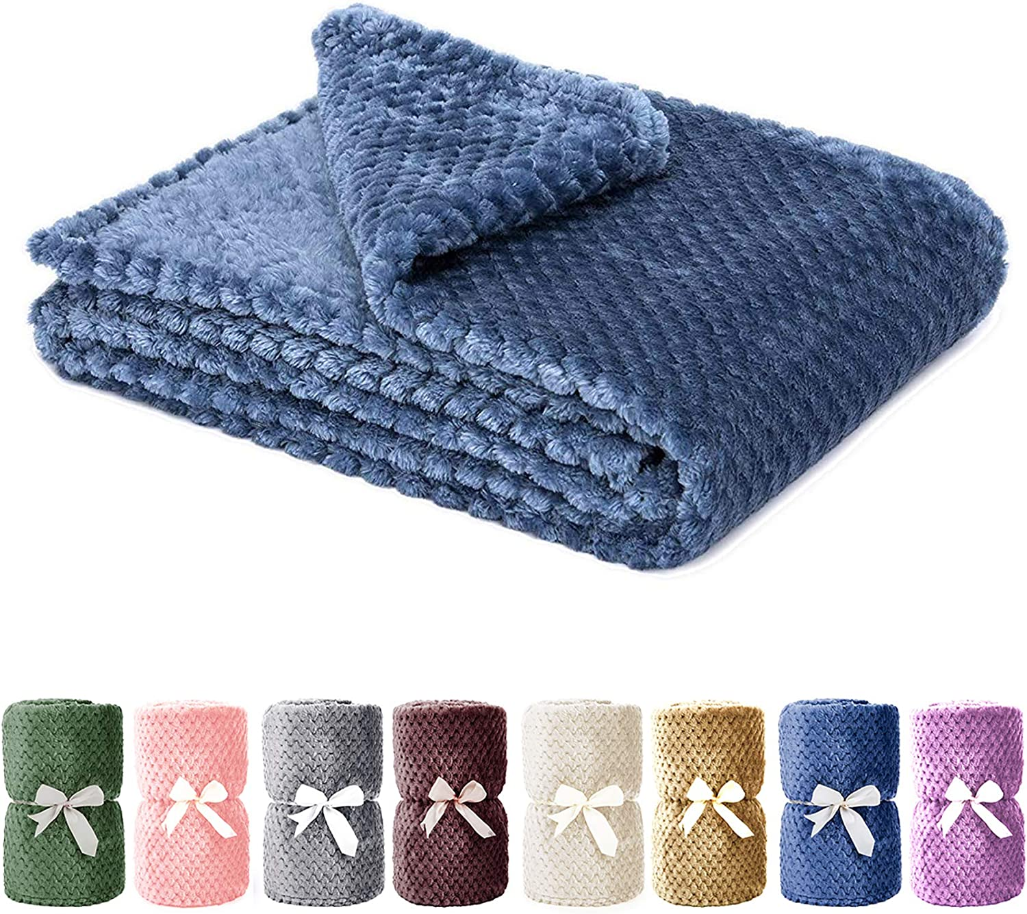 Dog Blanket,Soft Fuzzy Blankets for Puppy, Small,Medium,Large,X-Large Premium Fluffy Blankets Plush Fleece Throw Dog Bed, Couch, Sofa, Reversible Travel Warm Covers : Pet Supplies