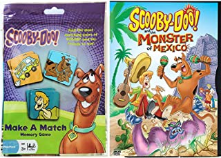 What's New Scooby-Doo? Cartoon & Scooby-Doo Make a Match Memory Game - Scooby and the Monster of Mexico DVD Card Bundle Vol. 1 Animated Set