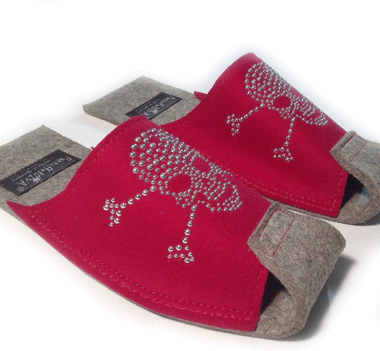 PantoffelDIVA Men's Slippers Red RED Unisex 42-46